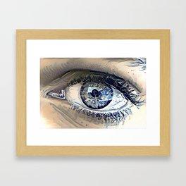 Delft Blue Eye Framed Art Print