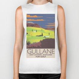 Gullane,East Lothian, Scotland Golf poster. Biker Tank