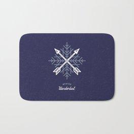 Winter Wanderlust (blue) Bath Mat