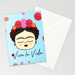Viva la Frida, artist, flowered Stationery Cards