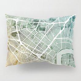 New Orleans Street Map Pillow Sham