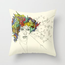 SplatterHead. Throw Pillow
