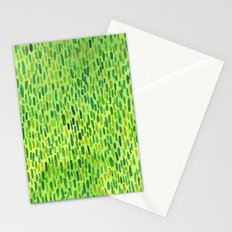 Watercolor Grass Pattern Green by Robayre Stationery Cards