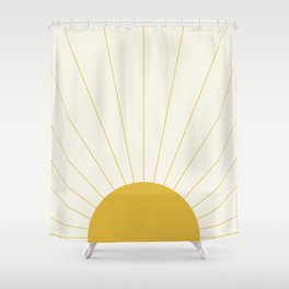 Sunrise / Sunset Minimalism Shower Curtain