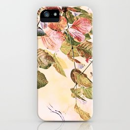 Pastell Leaves  iPhone Case