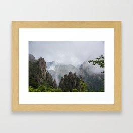 Settling Fog Framed Art Print