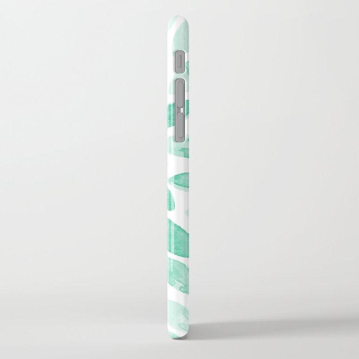 Watercolor brush strokes - aqua iPhone Case