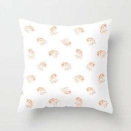 Birds Sketch Pattern Throw Pillow