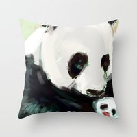 mother Throw Pillows featuring Mother by Jaleesa McLean