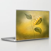 sunflower Laptop & iPad Skins featuring Sunflower by flamenco72