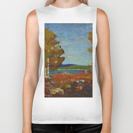 Tom Thomson Trees and Stump above a Shore 1916 Canadian Landscape Artist Biker Tank