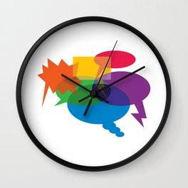 Speech Bubbles Wall Clock