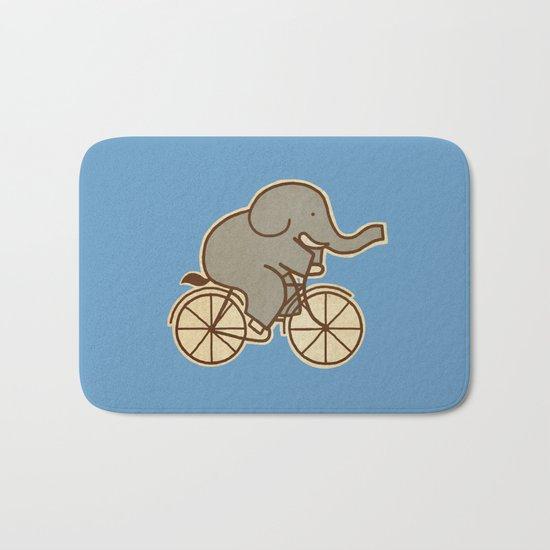 Elephant Cycle - colour option Bath Mat
