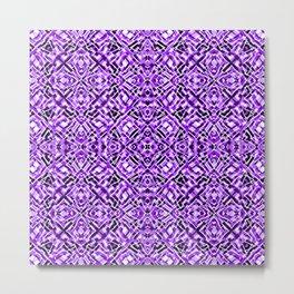 Mix #213 Purple Metal Print