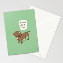 Immature Dachshund Stationery Cards