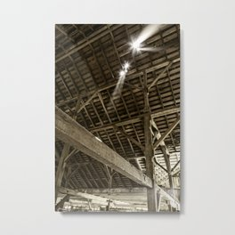 Sunlight in Barn, Point Reyes, California Metal Print