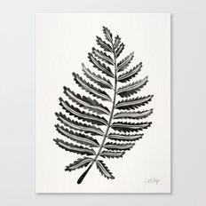Fern Leaf – Black Palette Canvas Print
