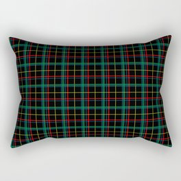 Red and green plaid Rectangular Pillow