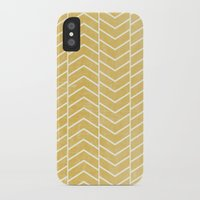 chevron iPhone & iPod Cases featuring Yellow Chevron by Zeke Tucker