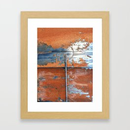 Rust and Metal Framed Art Print