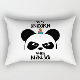5% Unicorn 95% Ninja Rectangular Pillow