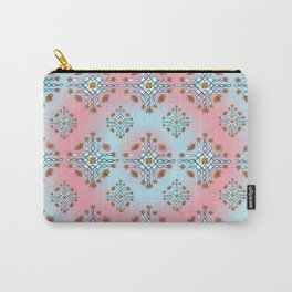 Teal and red kolam Carry-All Pouch