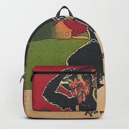 Krampus with his victim Backpack