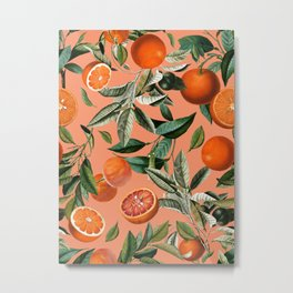 Vintage Fruit Pattern XII Metal Print