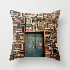 bookstore in Italy Throw Pillow