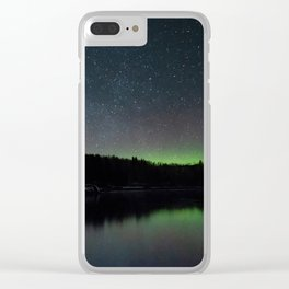 The Northern Lights Along the North Shore of Minnesota Clear iPhone Case
