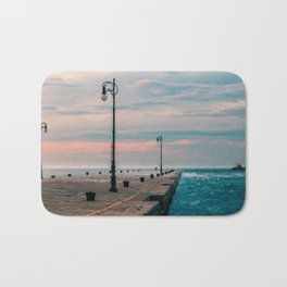 Windy day in the city of Trieste Bath Mat