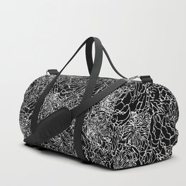 SPRING IN WHITE AND BLACK Duffle Bag