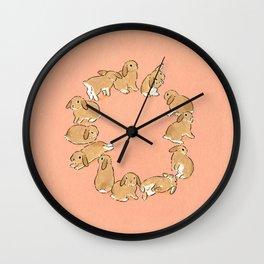 12 lop rabbits Wall Clock