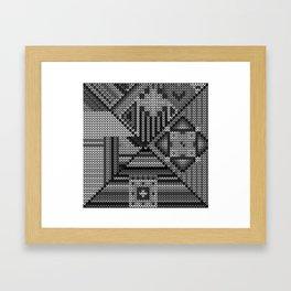 grey knit Framed Art Print