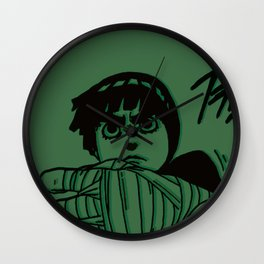 Rock Lee Jutsu Wall Clock