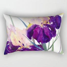 Deep Purple Flowers, Irises Rectangular Pillow
