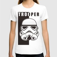 trooper T-shirts featuring Storm Trooper by SpaceCatsBonanzaParty