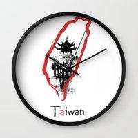 subaru Wall Clocks featuring Taiwan, Taipei by viva la revolucion