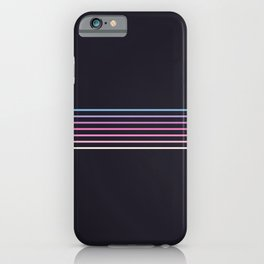 Pink Colored Retro Stripes iPhone Case