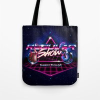 regular show Tote Bags featuring Regular 80's Show by Gazulo Marquez