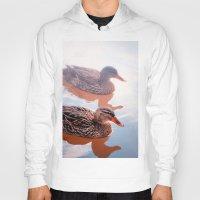duck Hoodies featuring Duck by DistinctyDesign