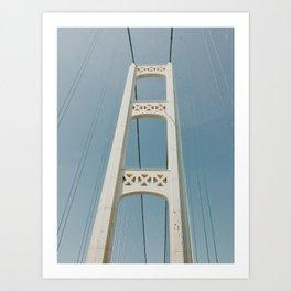 Mackinaw Bridge Art Print