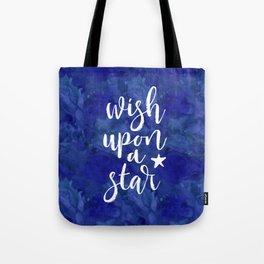 Wish upon a star - midnight blue Tote Bag