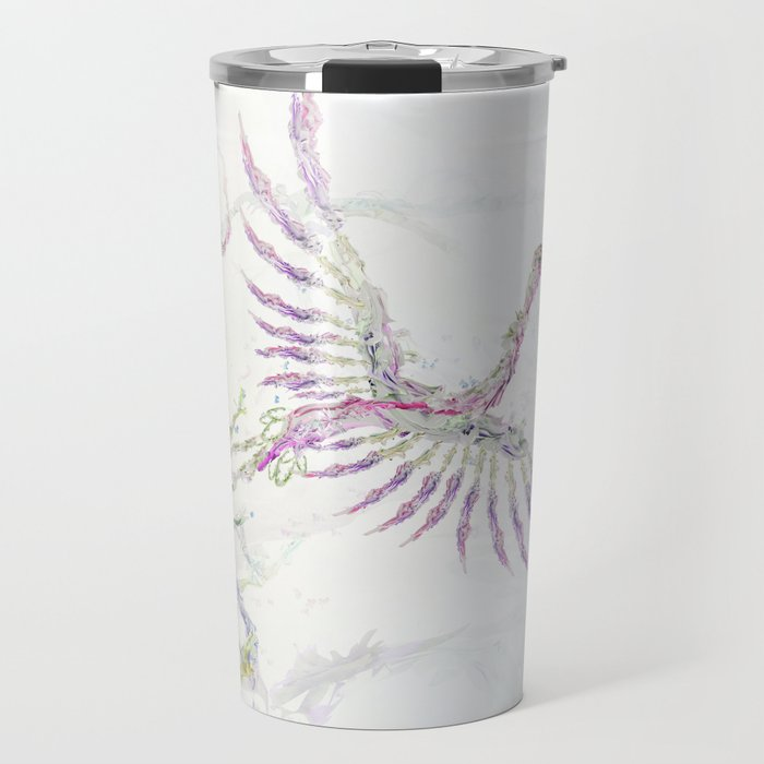Nature In Technicolor - Crane Travel Mug