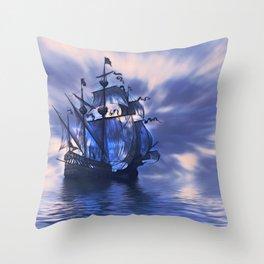 Pirate Blues Throw Pillow