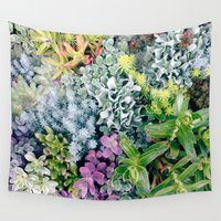 succulent Wall Tapestries featuring Succulent by cwassmer