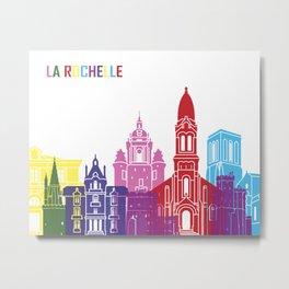 La Rochelle skyline pop Metal Print