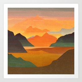 Autumn Landscape 1 Art Print
