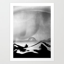 Black Space Song Art Print