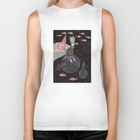 yetiland Biker Tanks featuring Five Hundred Million Little Bells (3) by Judith Clay
